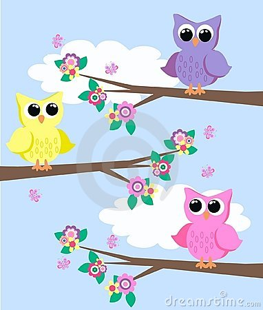 Free Cute Owls Stock Image - 19549641