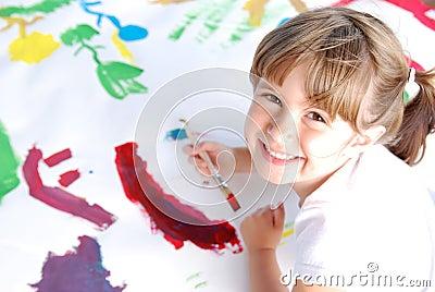 Cute painter