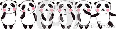 Cute panda position