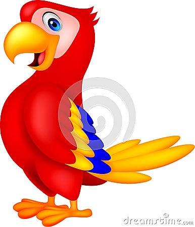 Free Cute Parrot Bird Cartoon Stock Image - 33231621