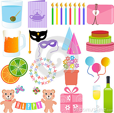Cute Party Element in paste colors