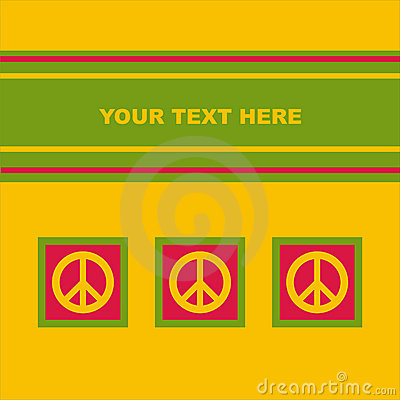 Cute peace card