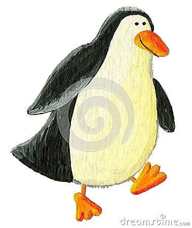 Cute Penguin walking