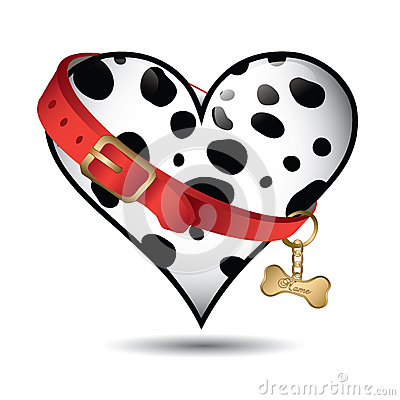 Cute pet dalmatian pattern