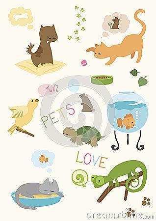 Cute Pets  Set