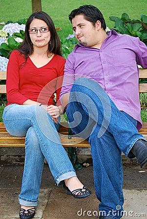 Cute picture of attractive Hispanic Couple