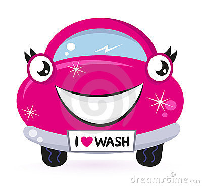 Cute pink car wash