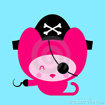 Cute Pink Cat Pirate