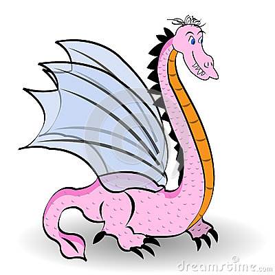Cute pink dragon