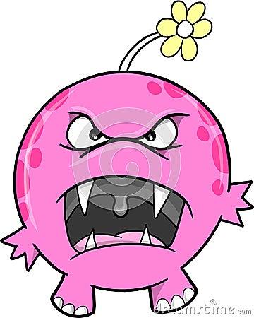 Cute Pink Monster Vector