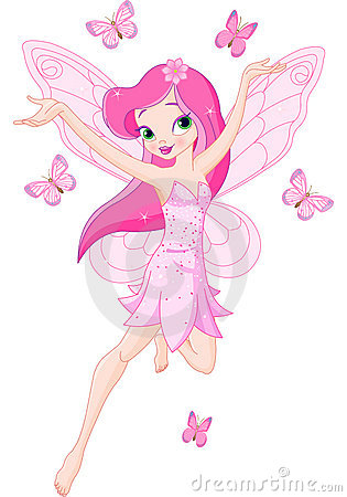 Free Cute Pink Spring Fairy Royalty Free Stock Photo - 13982205