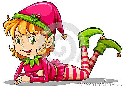 A cute playful elf