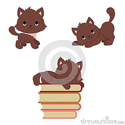 Free Cute Playful Kittens Icons Set Stock Photo - 66803700