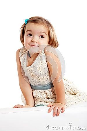 Cute playful little girl