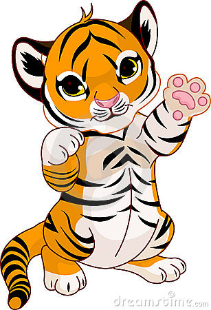 Free Cute Playful Tiger Cub Stock Photos - 16548113