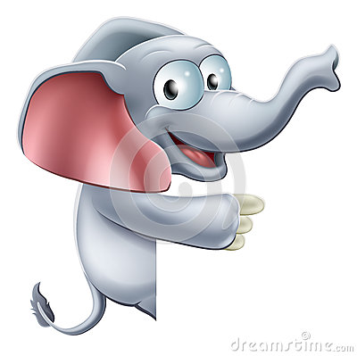 Cute Pointing Elephant
