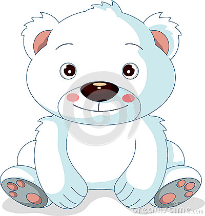 Cute cartoon polar bear cubs - photo#7