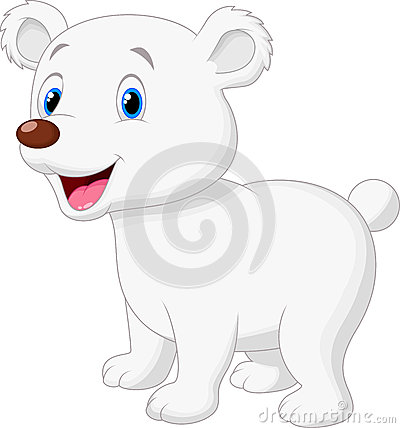 Cute polar bear cartoon Vector Illustration