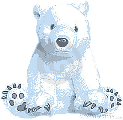 Cute Polar Bear Clip Art Stock Photo - Image: 2287950