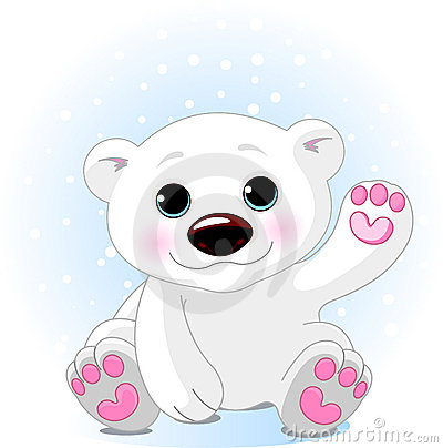 Cute cartoon polar bear cubs - photo#2