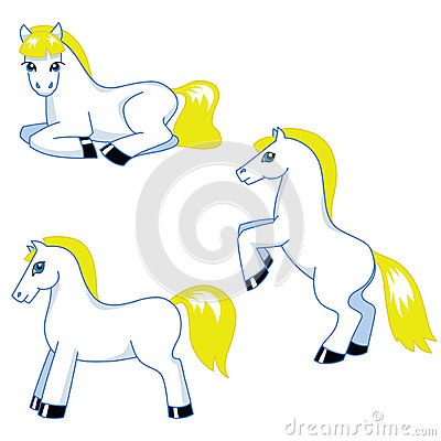 Cute pony set