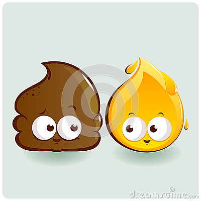 Free Cute Poop And Pee Characters Stock Photo - 38456890