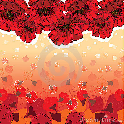 Cute poppies card
