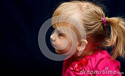 Cute preschool blond girl