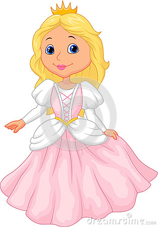 Cute Princess Cartoon Stock Vector Image 45743769