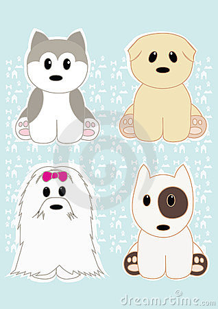Cute puppies set