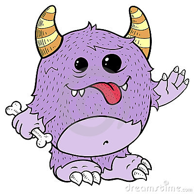 Cute Purple Monster, Illustration