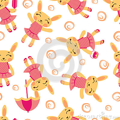 Cute rabbit girls pattern