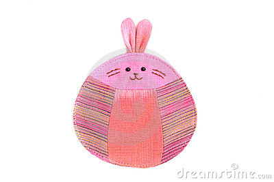 Cute rabbit sew by cloth