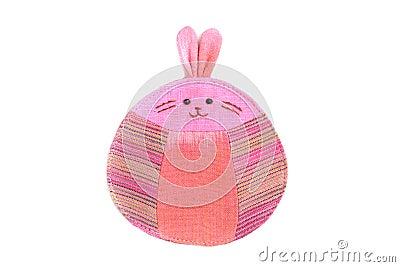 Cute rabbit sew by cloth