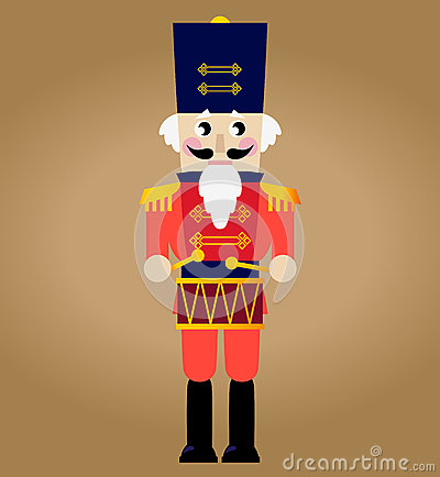 Cute red retro Nutcracker