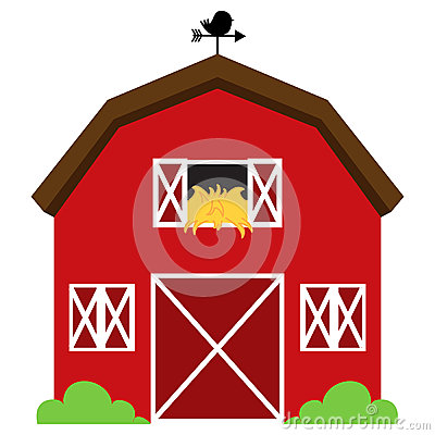 Free Cute Red Vector Barn Royalty Free Stock Images - 37857799