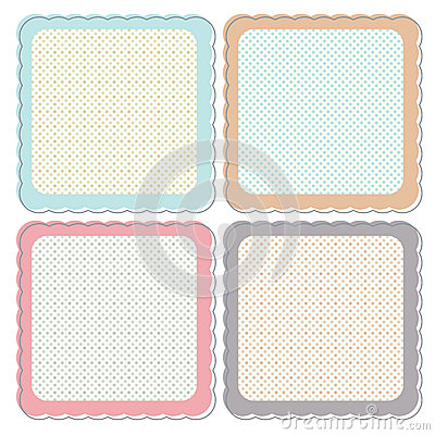 Cute Retro Framed Icon Set