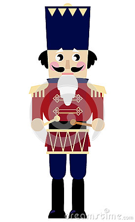 Cute retro Nutcracker