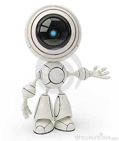 Free Cute Robot Royalty Free Stock Images - 28761389