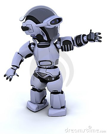Free Cute Robot Cyborg Stock Photography - 15074912