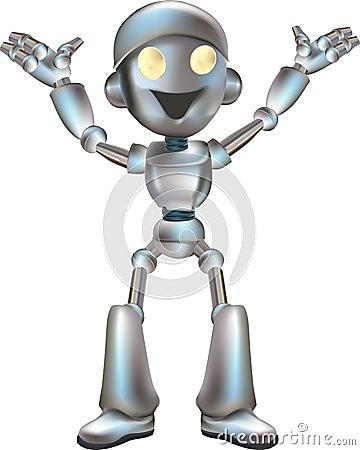Free Cute Robot Illustration Royalty Free Stock Image - 3624866