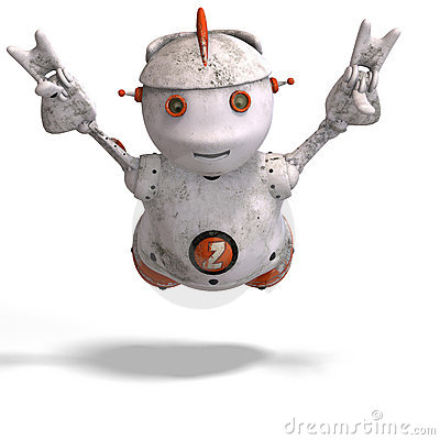 Cute roboter with lot of emotion