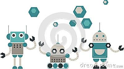 Cute robots design
