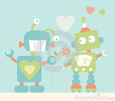 Cute Robots in Love
