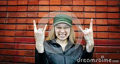 Cute rocker girl