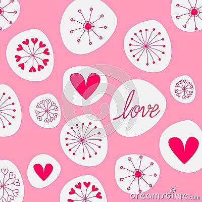 Cute romantic background