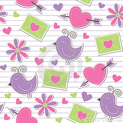 Free Cute Romantic Pattern Stock Photography - 21583082