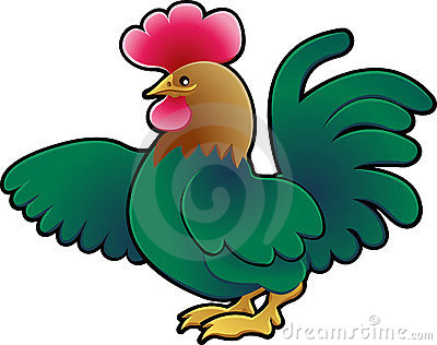 Cute Rooster Farm Animal Vector