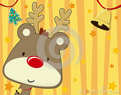 Cute rudolph christmas card