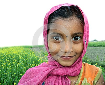 Cute rural Bangladeshi child Editorial Photo